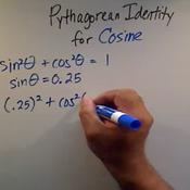Solving a Pythagorean Identity for Cosine