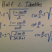 Half Angle Identities
