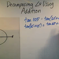 Decomposing Angles Using Addition