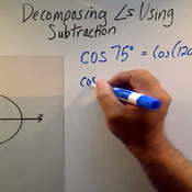 Decomposing Angles Using Subtraction