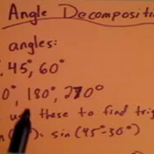 Angle Decomposition