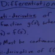 Anti-Differentiation