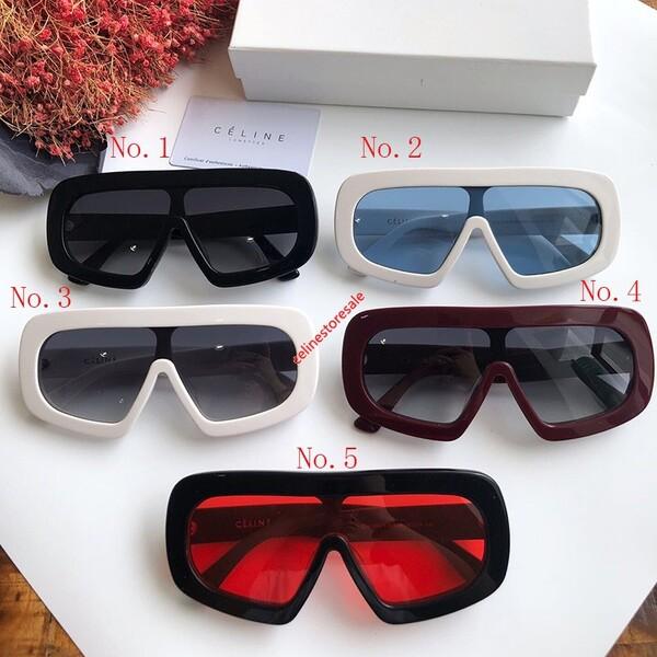 Celine Mask Sunglasses In Acetate