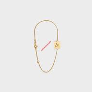 Celine Alphabet Bracelet In Brass With Gold Finish Gold