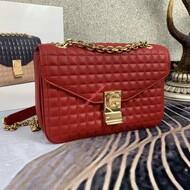 Celine Medium C-Bag In Quilted Calfskin Red