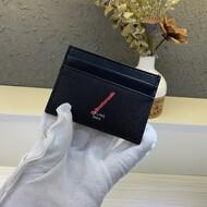 Celine Multifunction Card Holder In Grained Calfskin Black
