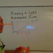 Finding a Left Riemann Sum