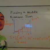 Computing a Middle Riemann Sum