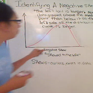Identifying Negative Skew