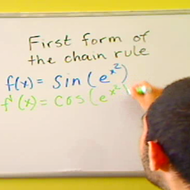 Applying the First Form of the Chain Rule
