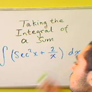 Taking the Integral of a Sum