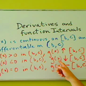 Derivatives and Function Intervals