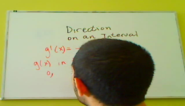 Determining the Direction on an Interval