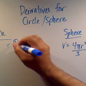 Derivatives for the Circle and Sphere