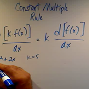 Using The Constant Multiple Rule