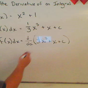 Taking the Derivative of Integral