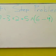 Evaluating Multiple Step Problems