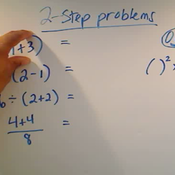 Evaluating Two Step Problems