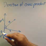 Direction of a Cross Product