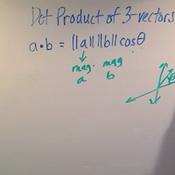 Dot Product of 3-Vectors