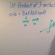 Dot Product of 3-Vectors