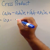 Finding the Cross Product of Vectors