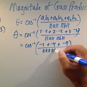 Calculating the Magnitude of a Cross Product