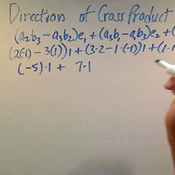 Determining the Direction of a Cross Product