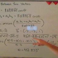 Finding the Angle Between Two Vectors