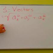 Calculating the Magnitude of a 3-Vector