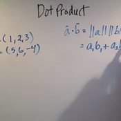 Calculating the Dot Product of 3-Vectors