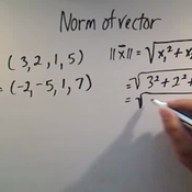 Calculating the Norm of a Vector