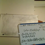 Finding the Dot Product of Vectors in N-Space