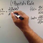 Applying L'Hopital's Rule