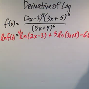 Taking the Derivative of a Logarithmic Function