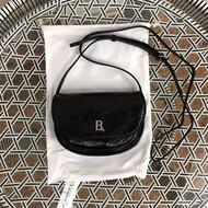 BALENCIAGA B XS CROSSBODY BAG GRAINED NAPPA CALFSKIN IN BLACK