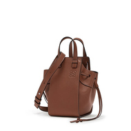 Loewe Mini Hammock Drawstring Bag Nappa Calf In Brown