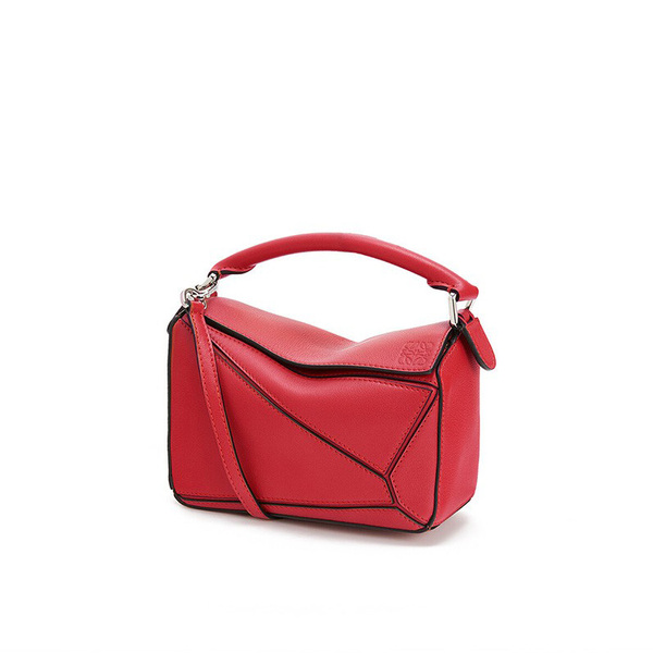 Loewe Puzzle Mini Bag Classic Calf In Red