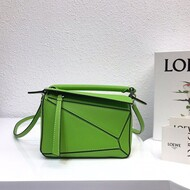 Loewe Mini Puzzle Bag Classic Calf In Light Green