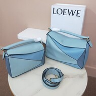 Loewe Puzzle Patchwork Bag Calfskin Sky Blue