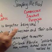 Identifying Sampling Method