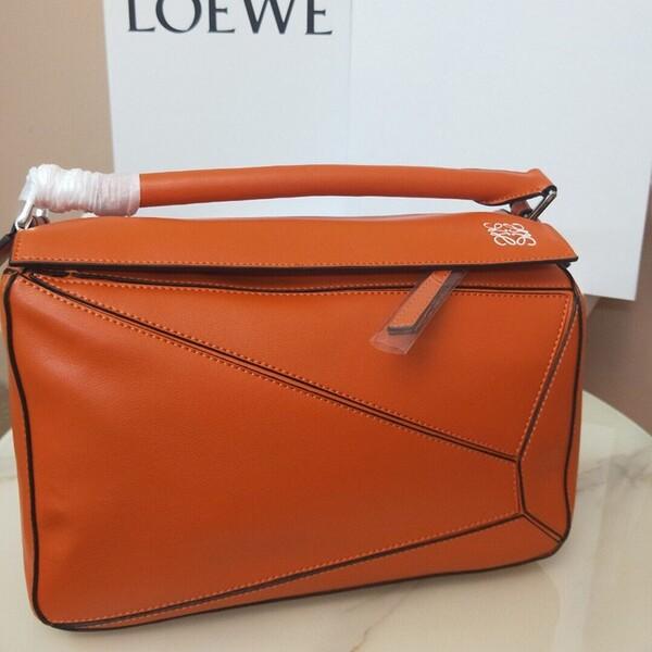 Loewe Puzzle Bag Classic Calf In Orange