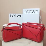 Loewe Puzzle Bag Classic Calf In Red