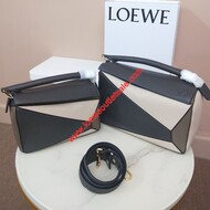 Loewe Puzzle Patchwork Bag Calfskin Grey