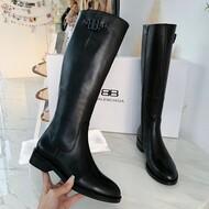 Balenciaga Calfskin Boots In Black