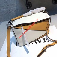 Loewe Puzzle Patchwork Bag Calfskin White