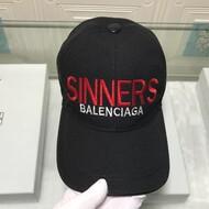 Balenciaga Logo Embroidered Cap In Black
