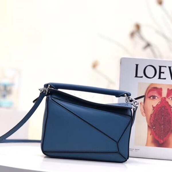 Loewe Puzzle Mini Bag Classic Calf In Blue