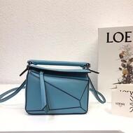 Loewe Puzzle Mini Bag Classic Calf In Light Blue