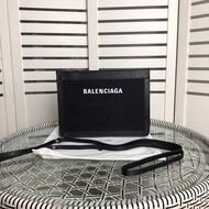 Balenciaga Navy Pouch With Strap In Black